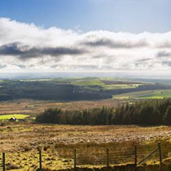 Panoramic view of a landscape, Foel Eryr, Mynydd Preseli National Park, Pembrokeshire, South Wales, Wales