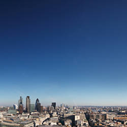 The City of London from St. Paul's Cathedral, London, England