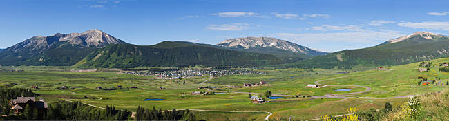 Mountain range, Crested Butte, Gunnison County, Colorado, USA