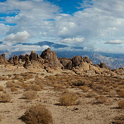 Rock formations in a desert, Alabama Hills, Owens Valley, Lone Pine, California, USA