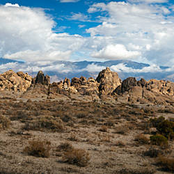 Alabama Hills and sky, Owens Valley, Lone Pine, California, USA