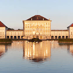 Palace at the waterfront, Nymphenburg Castle, Munich, Bavaria, Germany