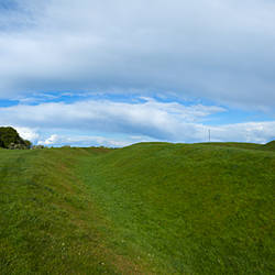 The Hill of Tara, Showing a Distant Lia Fail Stone, County Meath, Ireland