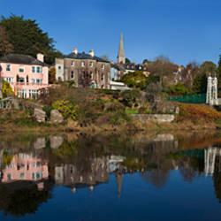 Riverside Houses and Daly's Bridge over the River Lee at the Mardyke,Cork City, Ireland