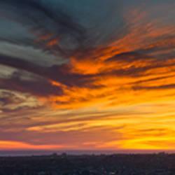 Clouds in the sky at dusk, Marina Del Rey, Santa Monica, Los Angeles, California, USA