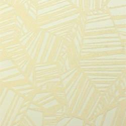 Plush Flocked Wallpaper Pyrite White/White Velvet