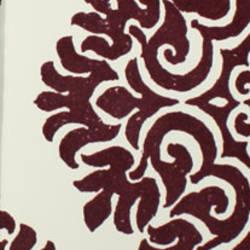Plush Flocked Wallpaper French Garden Damask White/Plum Velvet