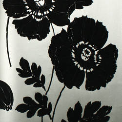 Plush Flocked Wallpaper Poppycock Pewter/Black Velvet