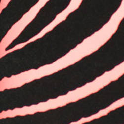 Plush Flocked Wallpaper Zebra Stripes Rose/Black Velvet
