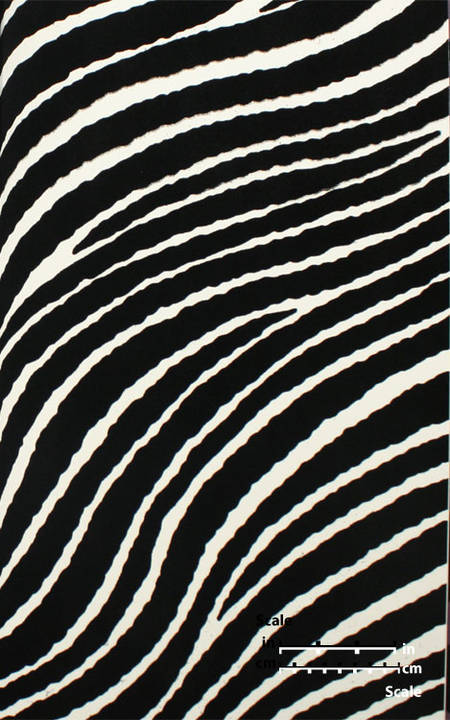 Plush Flocked Wallpaper Zebra Stripes White/Black Velvet