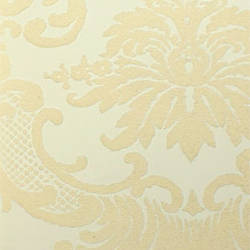 Classical Damask Cream/Cream Flock