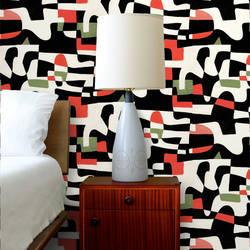 Shapeshifter, High Contrast - Jim Flora Wallpaper Tiles