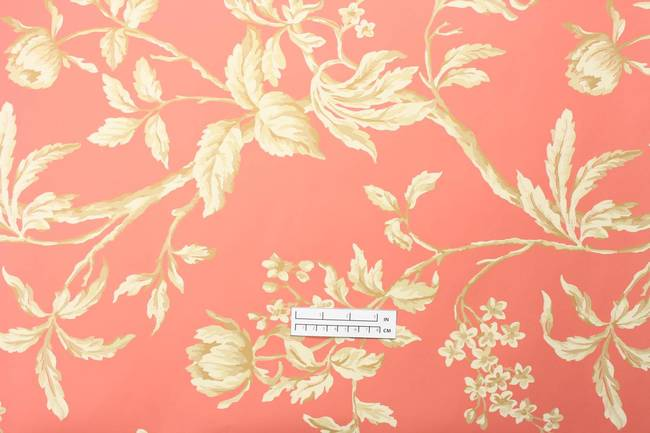 Traditional floral leaf wallpaper: FN-3695