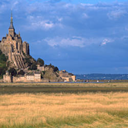 Castle on the coast, Mont Saint-Michel, Brittany, France