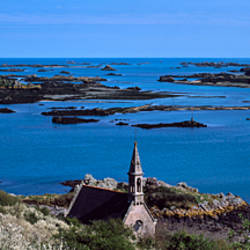 Chapel at a coast, La Trinite Chapel, Ile De Brehat, Cotes-d'Armor, Brittany, France