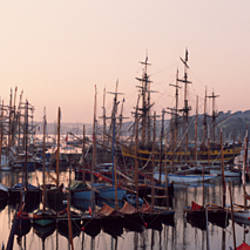 Boats at harbor, Rosmeur Harbour, Douarnenez, Finistere, Brittany, France