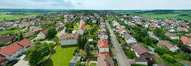 Houses in a town, Gerstetten, Ulm, Heidenheim, Baden-Wurttemberg, Germany