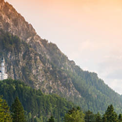 Castle on a hill, Neuschwanstein Castle, Schwangau, Bavaria, Germany