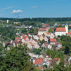 Houses in a town, Altensteig, Black Forest, Calw, Baden-Wurttemberg, Germany