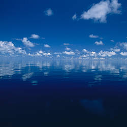 Reflection of clouds in the sea