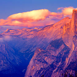 Sunlight falling on a mountain, Half Dome, Yosemite Valley, Yosemite National Park, California, USA