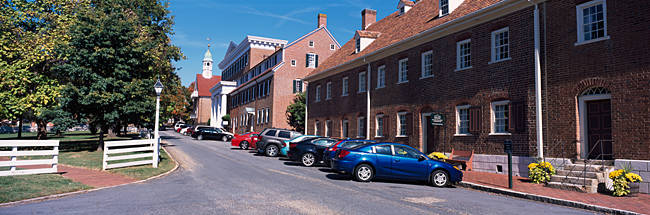 Cars parked in a street, Winston-Salem, Forsyth County, North Carolina, USA