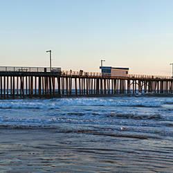 Pier in an ocean, Pismo Beach Pier, Pismo Beach, San Luis Obispo County, California, USA