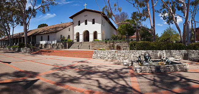Facade of a church, Mission San Luis Obispo, San Luis Obispo, San Luis Obispo County, California, USA