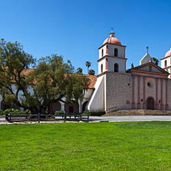 Facade of a mission, Mission Santa Barbara, Santa Barbara, Santa Barbara County, California, USA