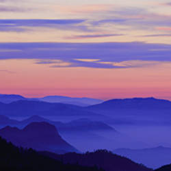 Silhouette of mountains at sunrise, Kings Canyon National Park, Sierra Nevada, California, USA