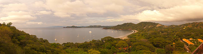Island in Pacific ocean, Bahia Hermosa, Gulf Of Papagayo, Guanacaste, Costa Rica