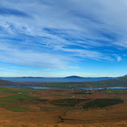 The Coomanaspig Pass, Overlooking Portmagee, The Ring of Kerry, County Kerry, Ireland