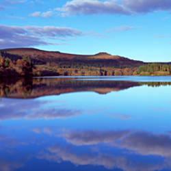 Reflection of clouds on water, Burrator Reservoir, Yelverton, Dartmoor, Devon, England