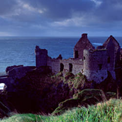 Castle on the coast, Dunluce Castle, County Antrim, Northern Ireland