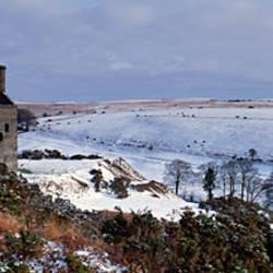 Smoke stack of a mine, Wheal Betsy Tin Mine, Dartmoor, Devon, England