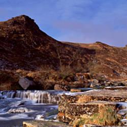Stream flowing through rocks, Tavy Cleave, Dartmoor, Devon, England