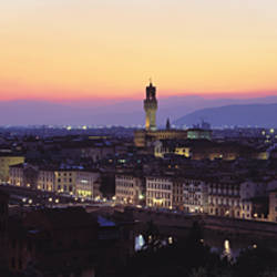 Buildings in a city, Piazza Michelangelo, Florence, Tuscany, Italy