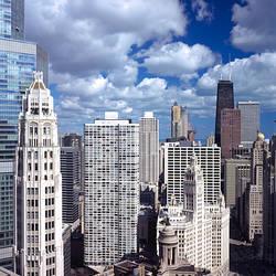 Skyscrapers in a city, Michigan Avenue, Chicago, Cook County, Illinois, USA 2011