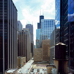 Skyscrapers in a city, Sears Tower, Chicago, Cook County, Illinois, USA