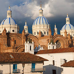 Low angle view of a cathedral, Immaculate Conception Cathedral, Cuenca, Azuay Province, Ecuador