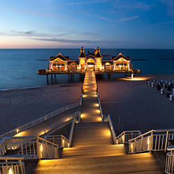 Pier in the sea, Sellin, Rugen Island, Mecklenburg-Vorpommern, Germany