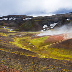Steam vents, Rhyolite Mountains, Landmannalaugar, Iceland
