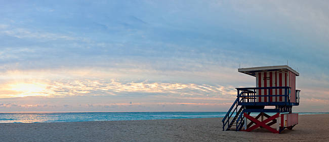 Lifeguard on the beach, Miami, Miami-Dade County, Florida, USA