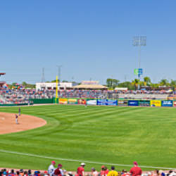 Spectators in a stadium, Bright House Field, Clearwater, Pinellas County, Florida, USA