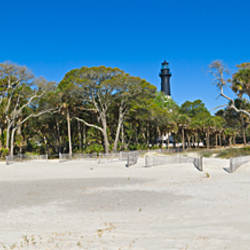 Lighthouse in a park, Hunting Island State Park, Beaufort, South Carolina, USA
