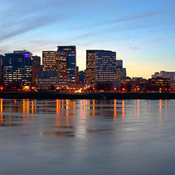 Buildings at the waterfront, Portland, Multnomah County, Oregon, USA