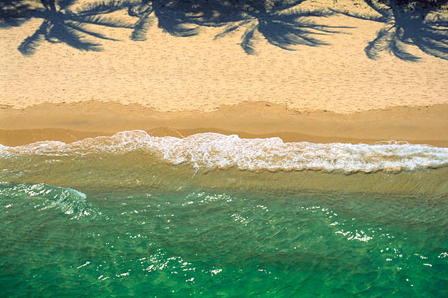 Waves on the beach, Moreton Island, Queensland, Australia