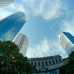 Low angle view of skyscrapers, Houston, Harris county, Texas, USA