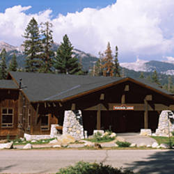 Lodge in a forest, Wuksachi Lodge, Sequoia National Park, California, USA