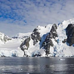 Glacier along a straits, Penola Strait, Antarctica